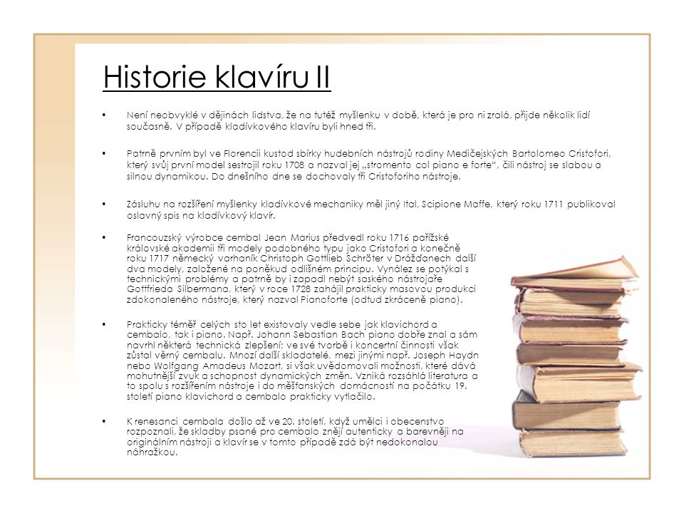 Historie klavíru II