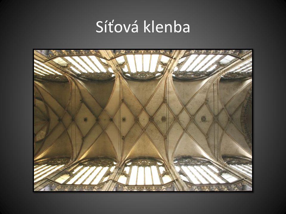 Síťová klenba Typ křížové klenby (Chrám sv. Víta v Praze)