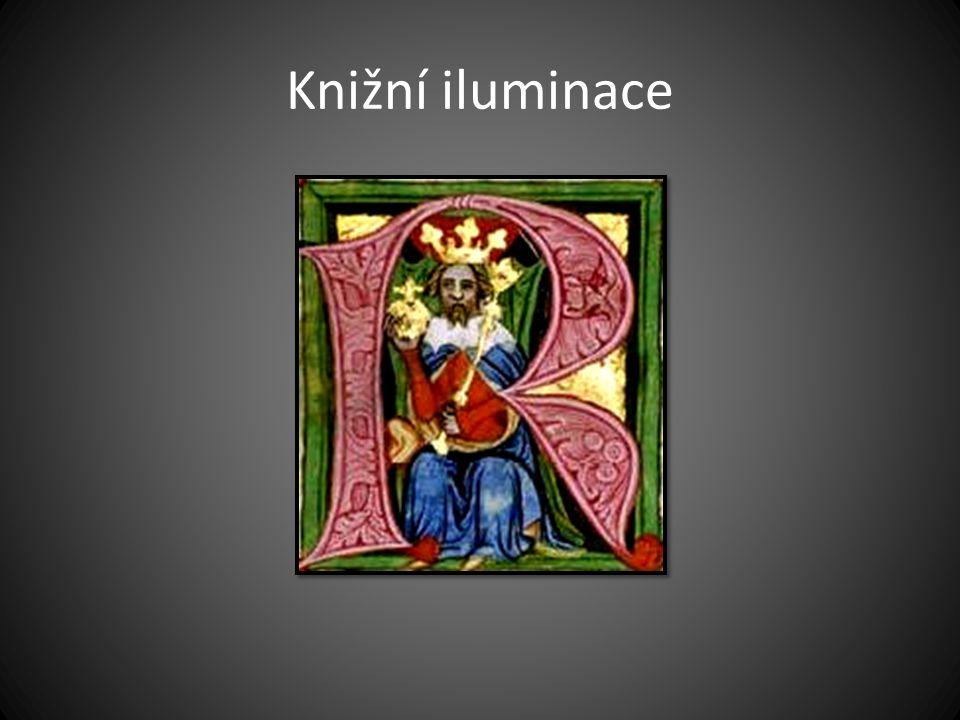 Knižní iluminace Český král Václav II. na miniatuře ve Zbraslavské kronice