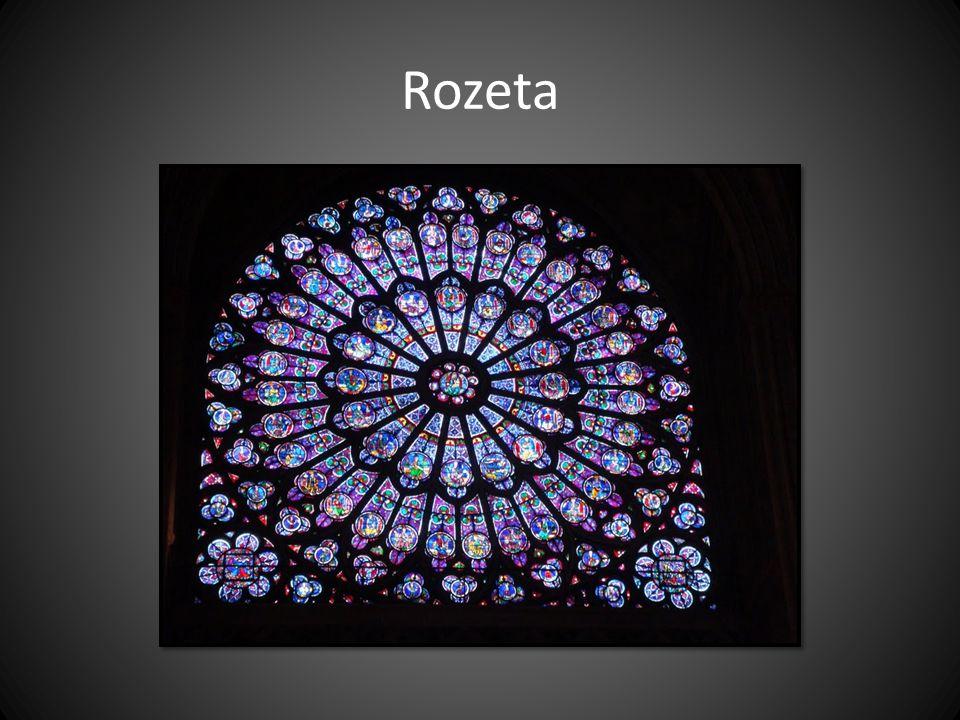Rozeta Notre Dame v Paříži