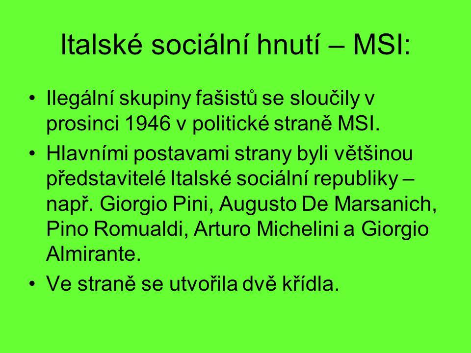 Italské sociální hnutí – MSI:
