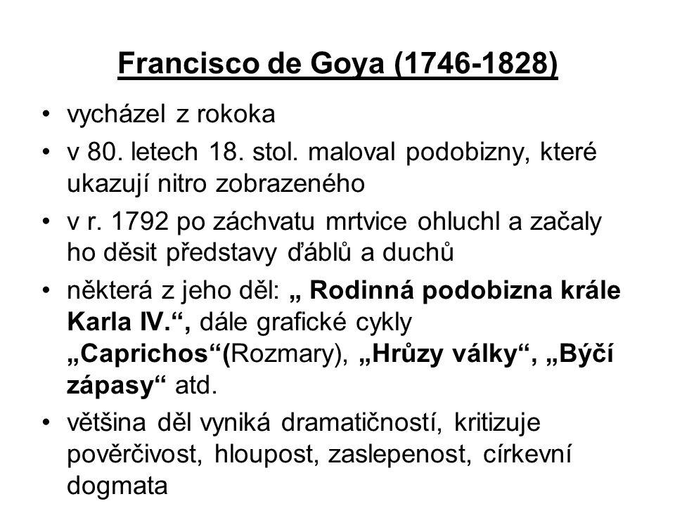 Francisco de Goya (1746-1828) vycházel z rokoka