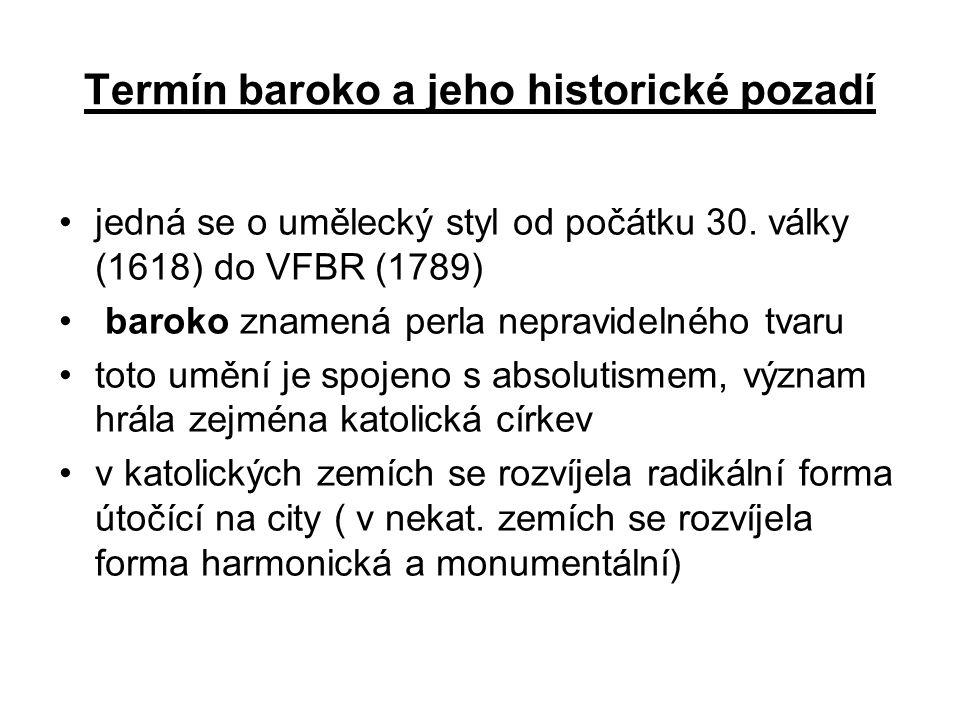 Termín baroko a jeho historické pozadí
