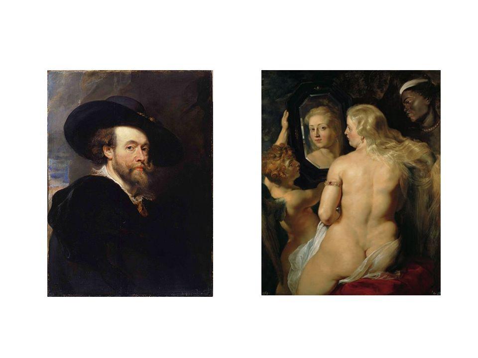 vlevo: autoportrét z roku 1623, vpravo Venuše u zrcadla z roku 1615