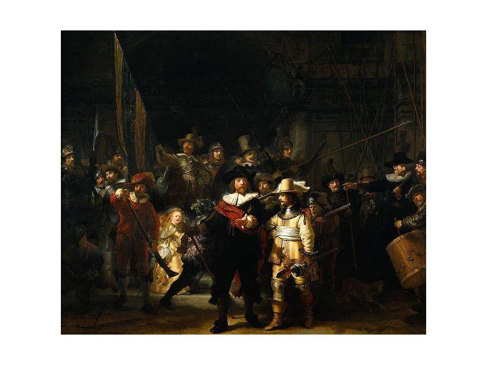 Noční hlídka, 1642, olej na plátně