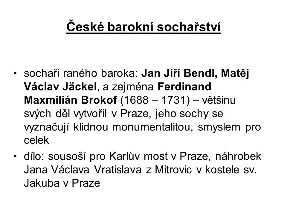 České barokní sochařství