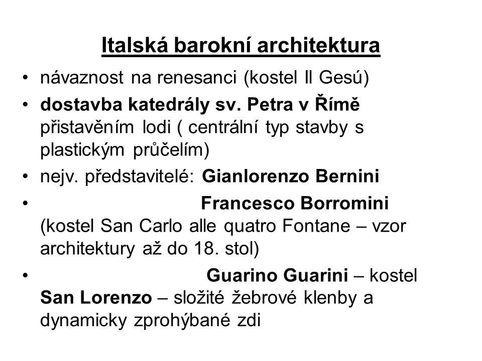 Italská barokní architektura