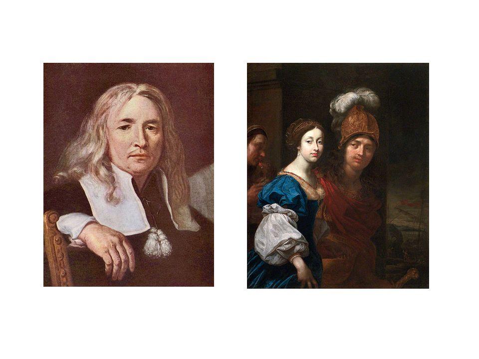 vlevo podobizna muže s plavými vlasy, vpravo Paris a Helena