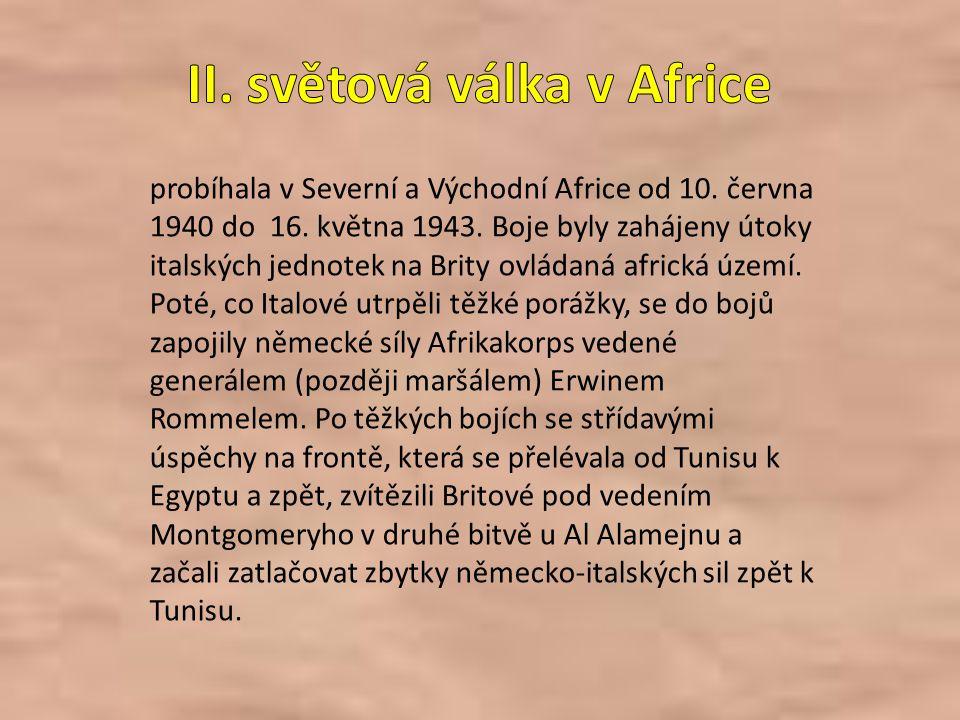 II. světová válka v Africe