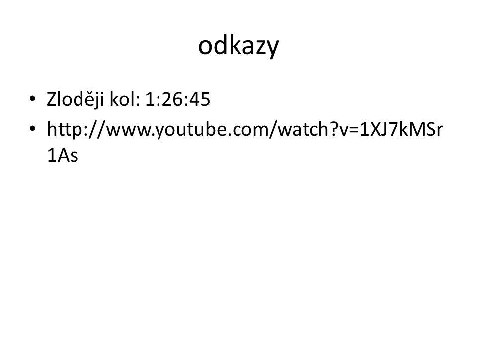 odkazy Zloději kol: 1:26:45 http://www.youtube.com/watch v=1XJ7kMSr1As