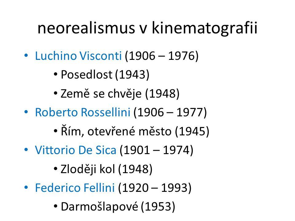 neorealismus v kinematografii