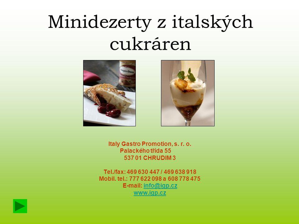 Minidezerty z italských cukráren