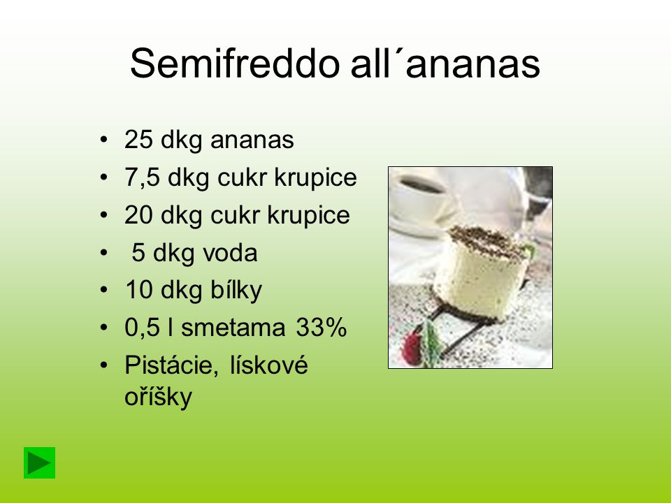 Semifreddo all´ananas