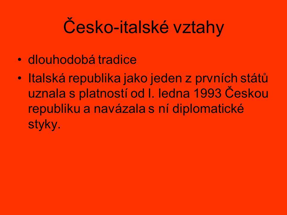 Česko-italské vztahy dlouhodobá tradice