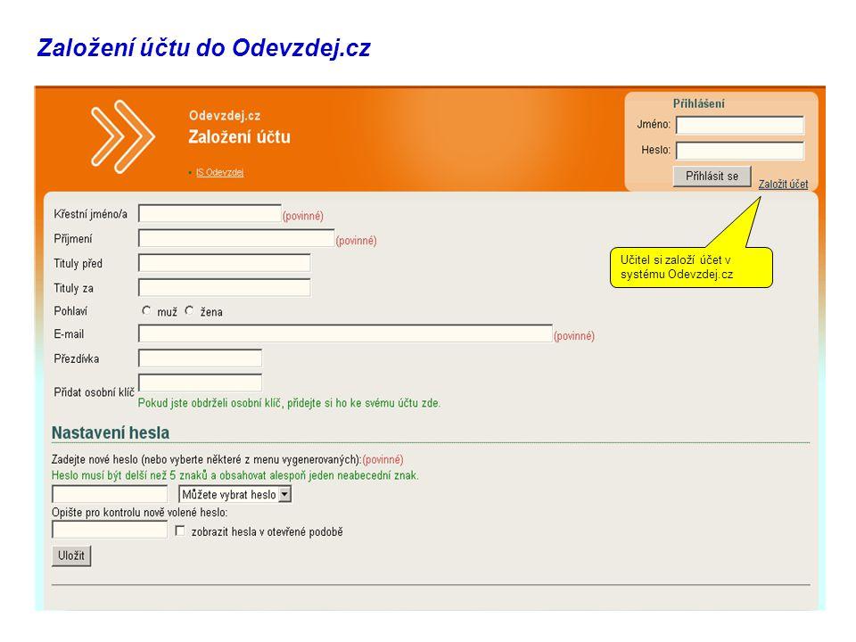 Založení účtu do Odevzdej.cz