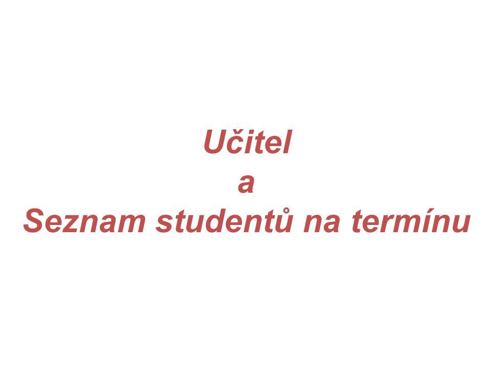 Seznam studentů na termínu