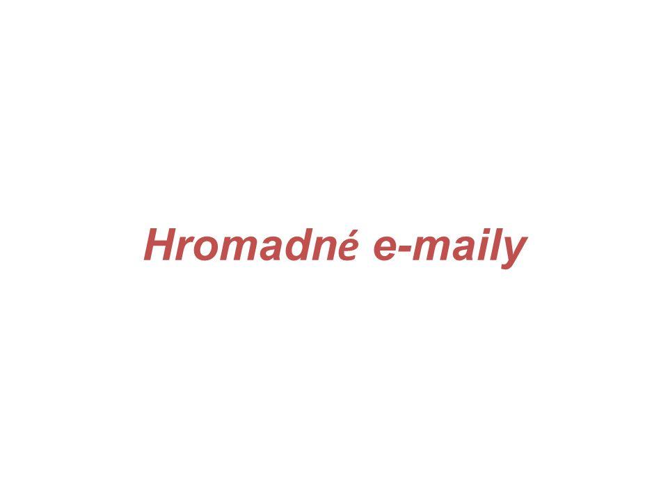 Hromadné e-maily