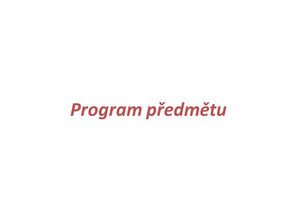 Program předmětu