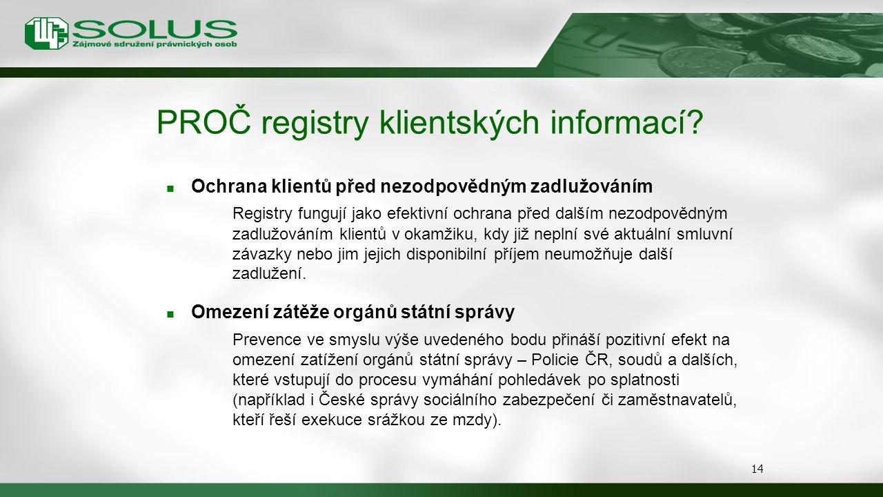PROČ registry klientských informací