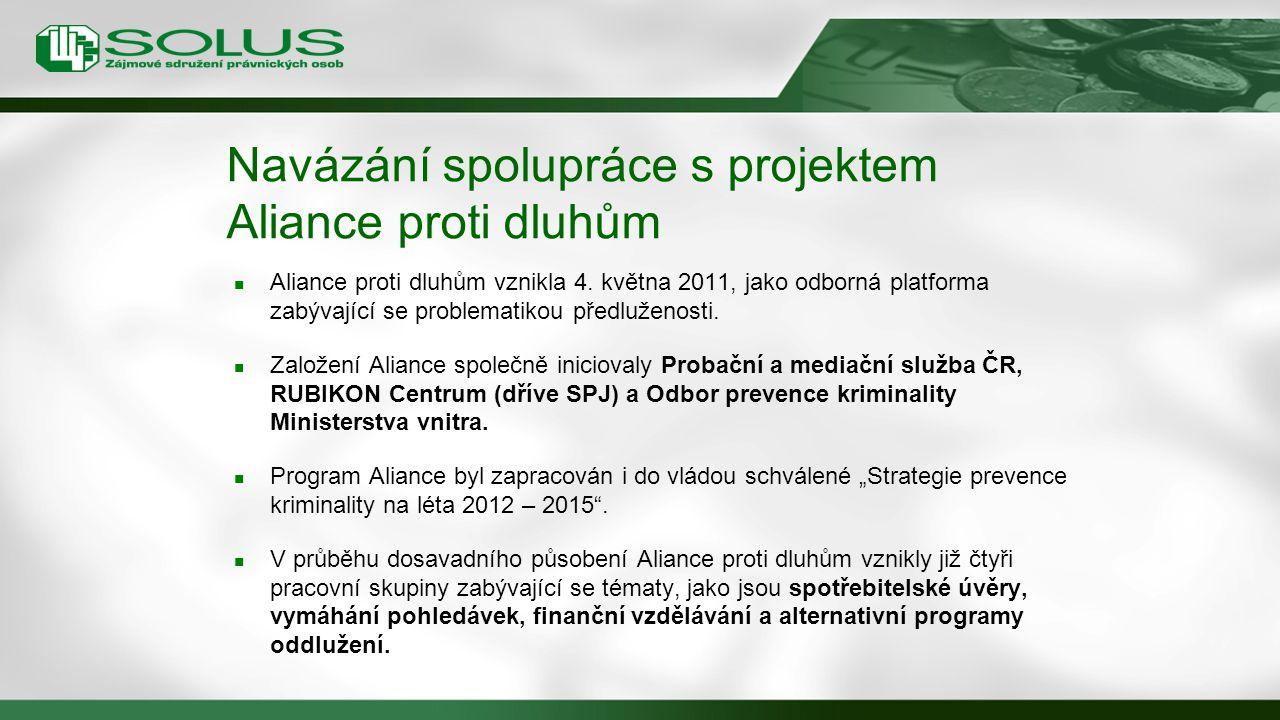 Navázání spolupráce s projektem Aliance proti dluhům
