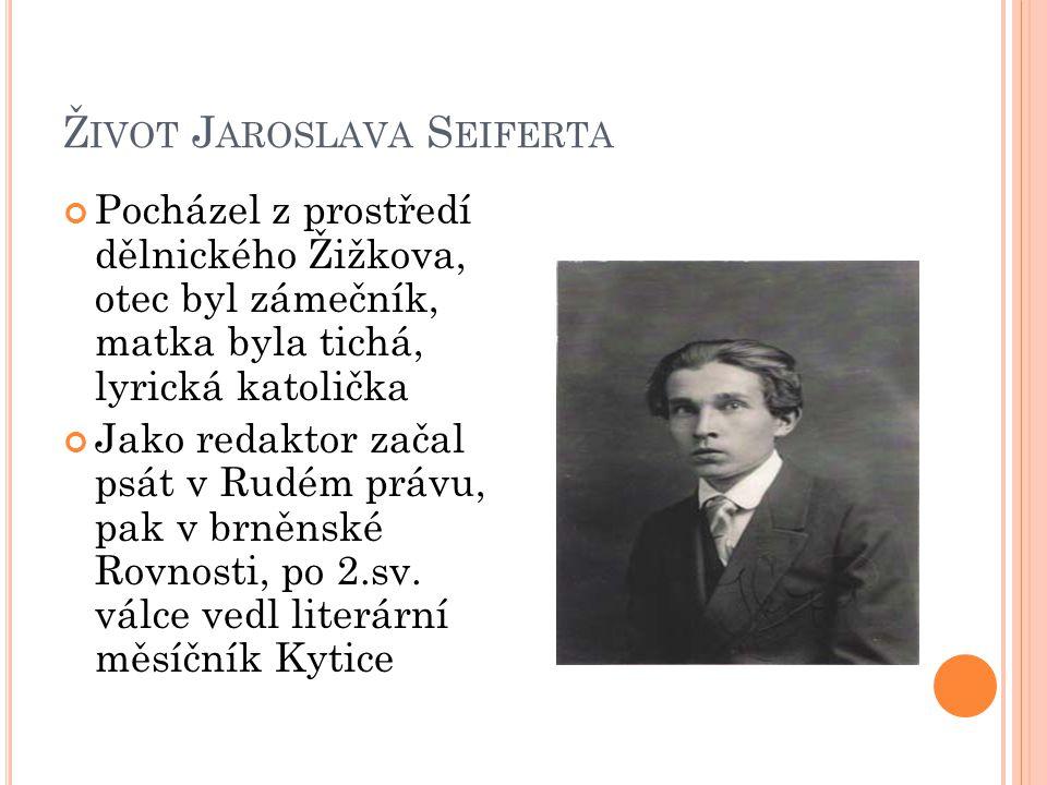 Život Jaroslava Seiferta