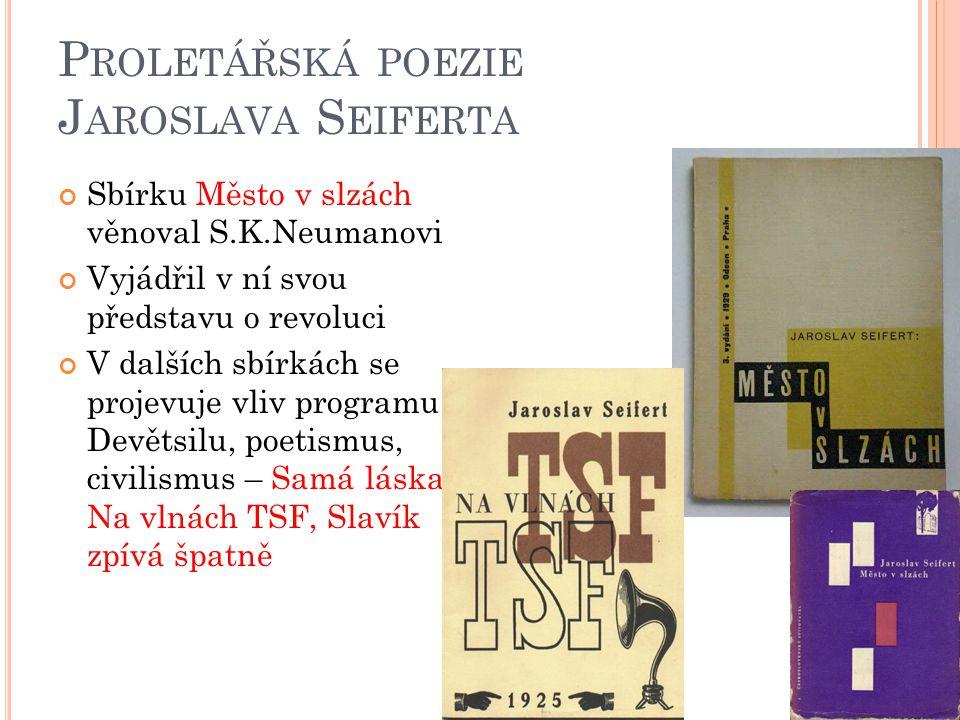 Proletářská poezie Jaroslava Seiferta