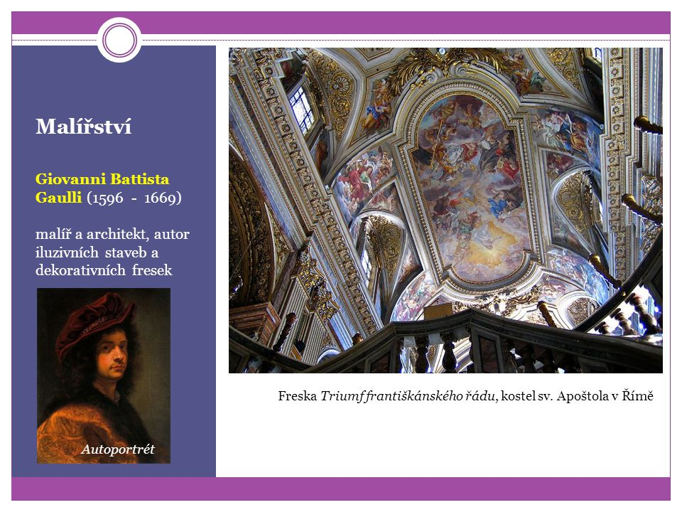 Malířství Giovanni Battista Gaulli (1596 - 1669)