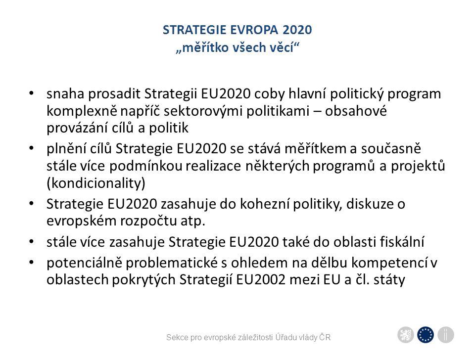 """STRATEGIE EVROPA 2020 """"měřítko všech věcí"""