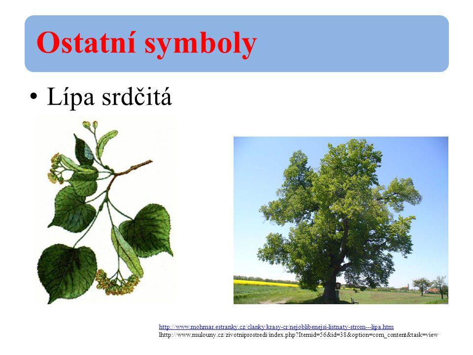 Ostatní symboly Lípa srdčitá. http://www.mohmar.estranky.cz/clanky/krasy-cr/nejoblibenejsi-listnaty-strom---lipa.htm.