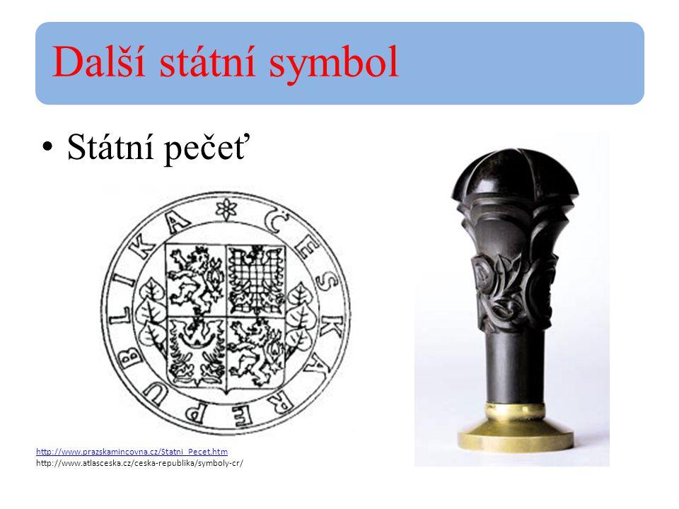 Další státní symbol Státní pečeť