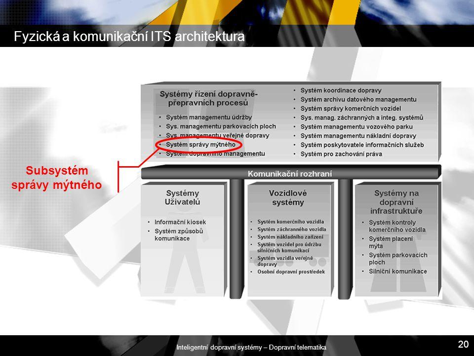 Fyzická a komunikační ITS architektura