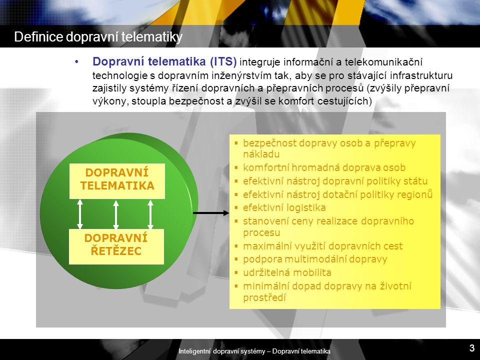 Definice dopravní telematiky