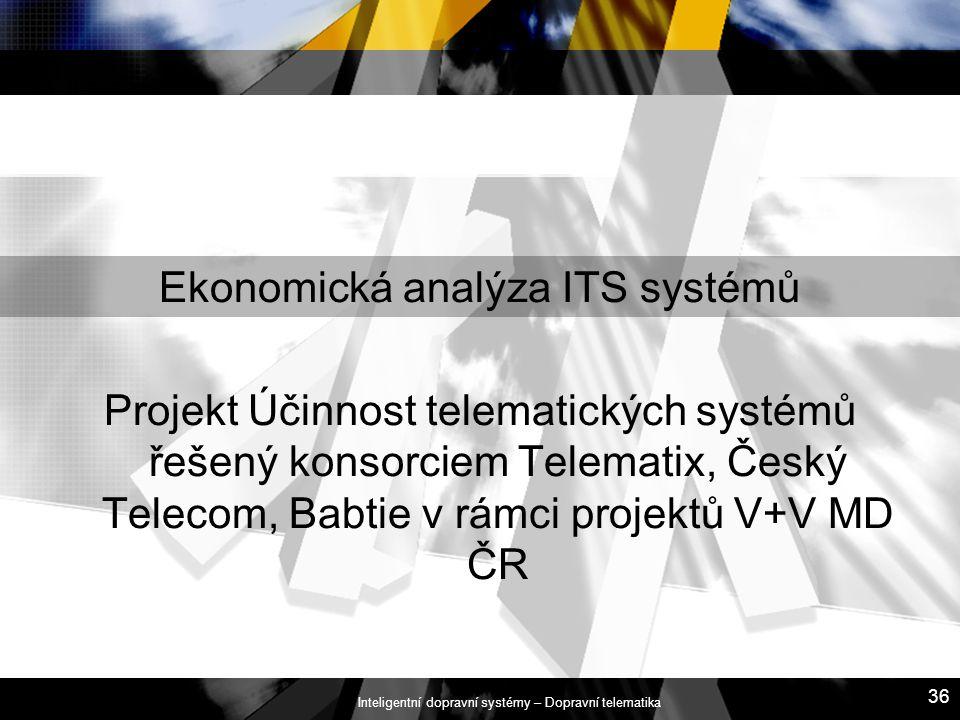 Ekonomická analýza ITS systémů