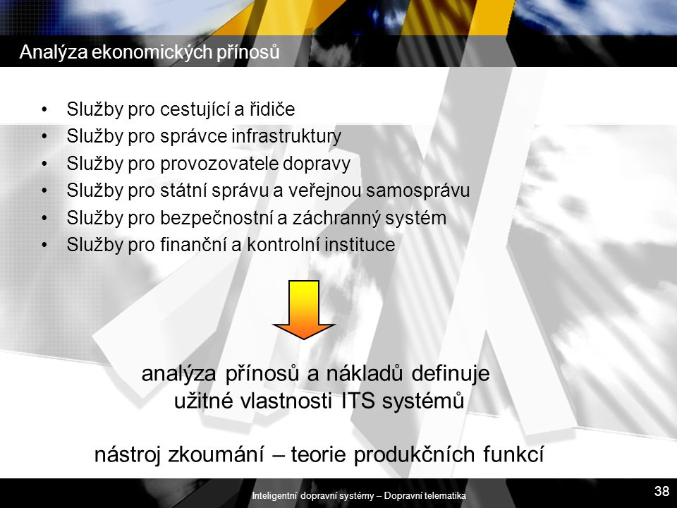 Analýza ekonomických přínosů