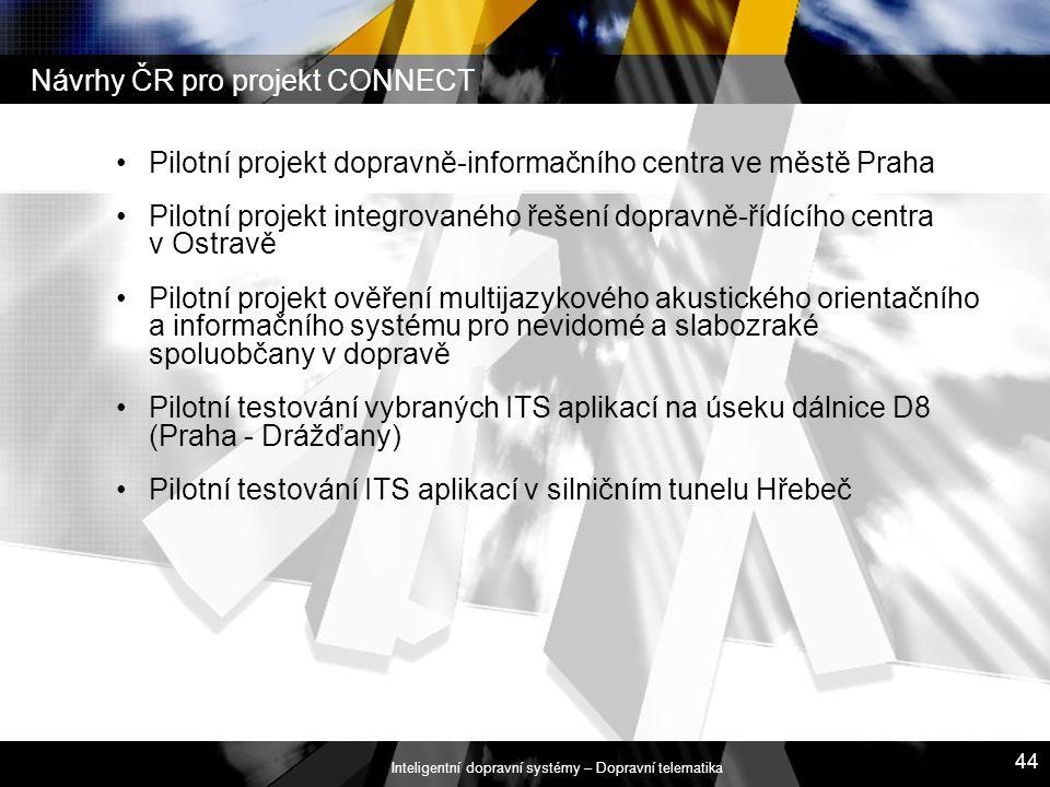 Návrhy ČR pro projekt CONNECT