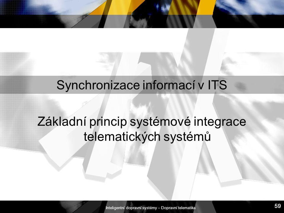 Synchronizace informací v ITS