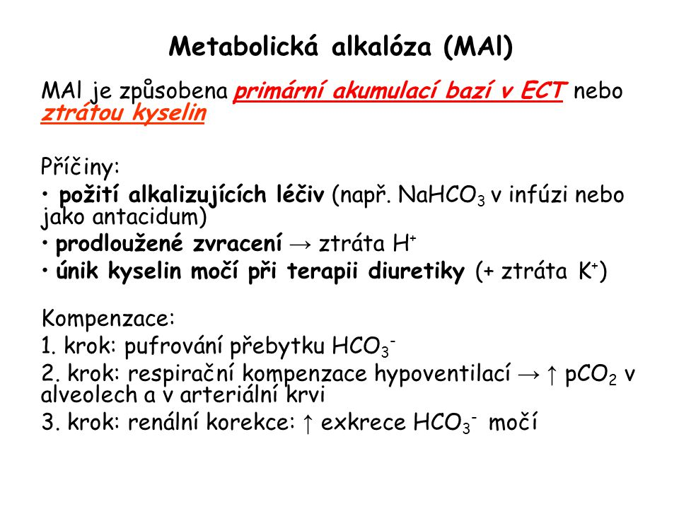 Metabolická alkalóza (MAl)