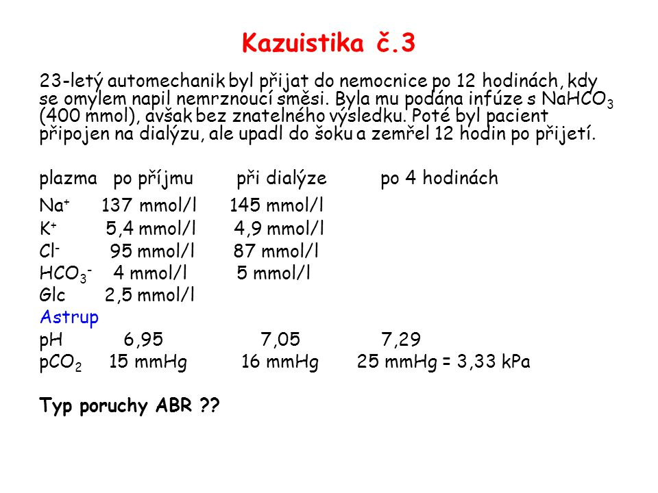 Kazuistika č.3