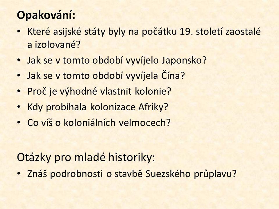 Otázky pro mladé historiky: