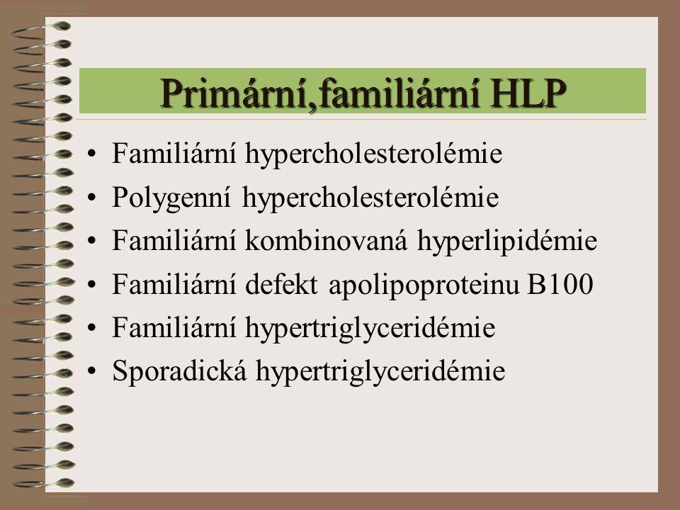 Primární,familiární HLP