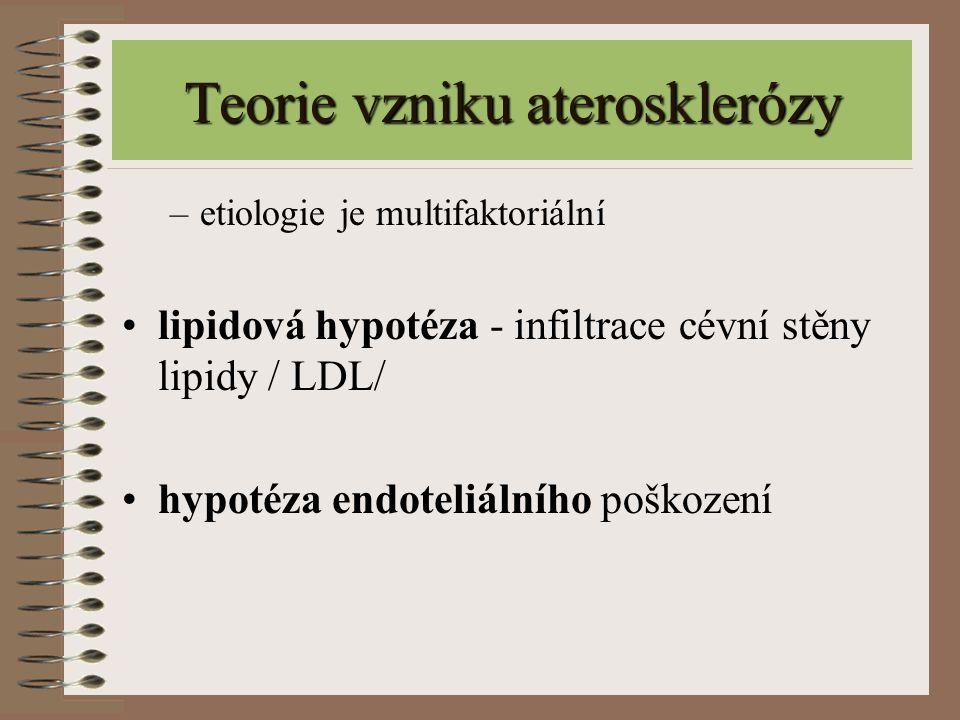 Teorie vzniku aterosklerózy