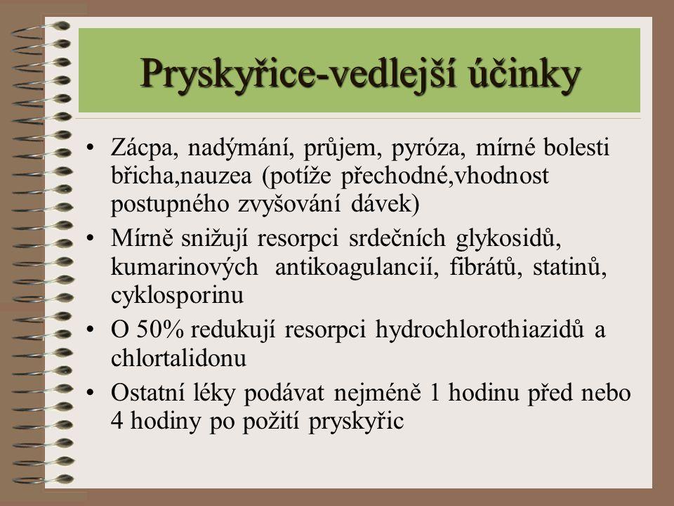 Pryskyřice-vedlejší účinky