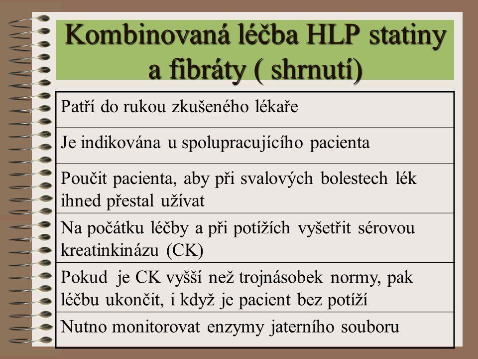Kombinovaná léčba HLP statiny a fibráty ( shrnutí)