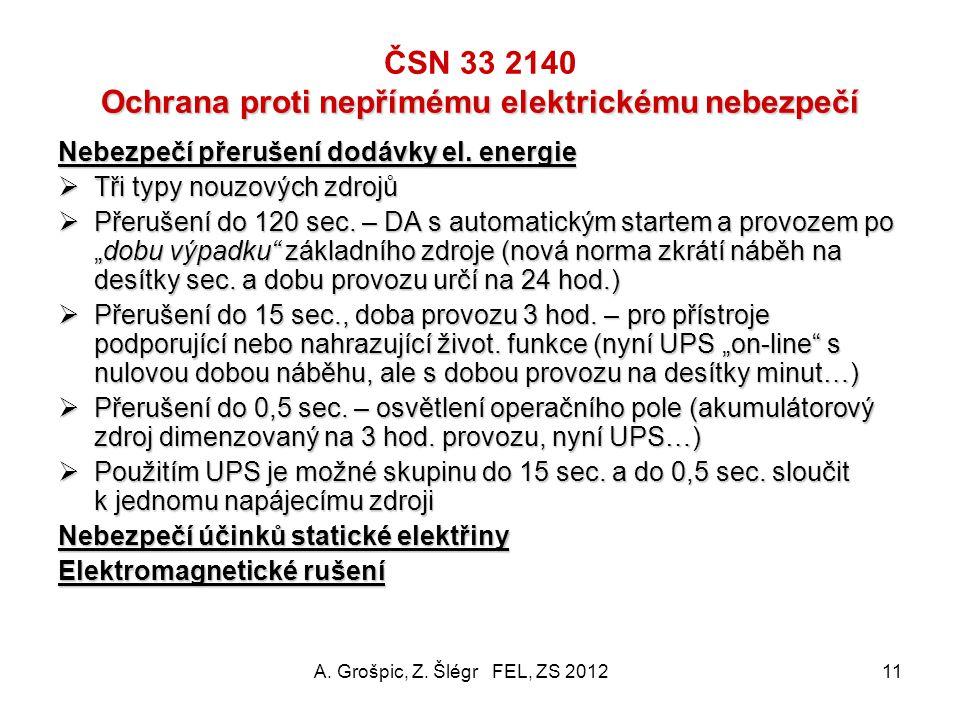ČSN 33 2140 Ochrana proti nepřímému elektrickému nebezpečí