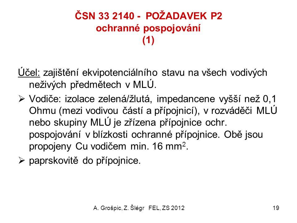 ČSN 33 2140 - POŽADAVEK P2 ochranné pospojování (1)