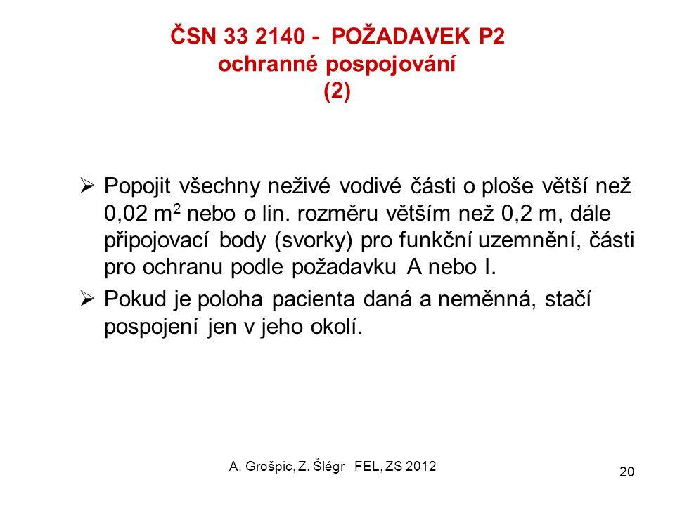 ČSN 33 2140 - POŽADAVEK P2 ochranné pospojování (2)