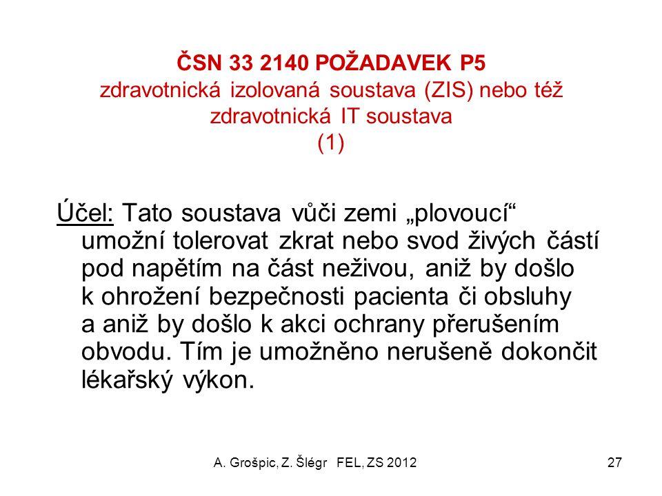 ČSN 33 2140 POŽADAVEK P5 zdravotnická izolovaná soustava (ZIS) nebo též zdravotnická IT soustava (1)