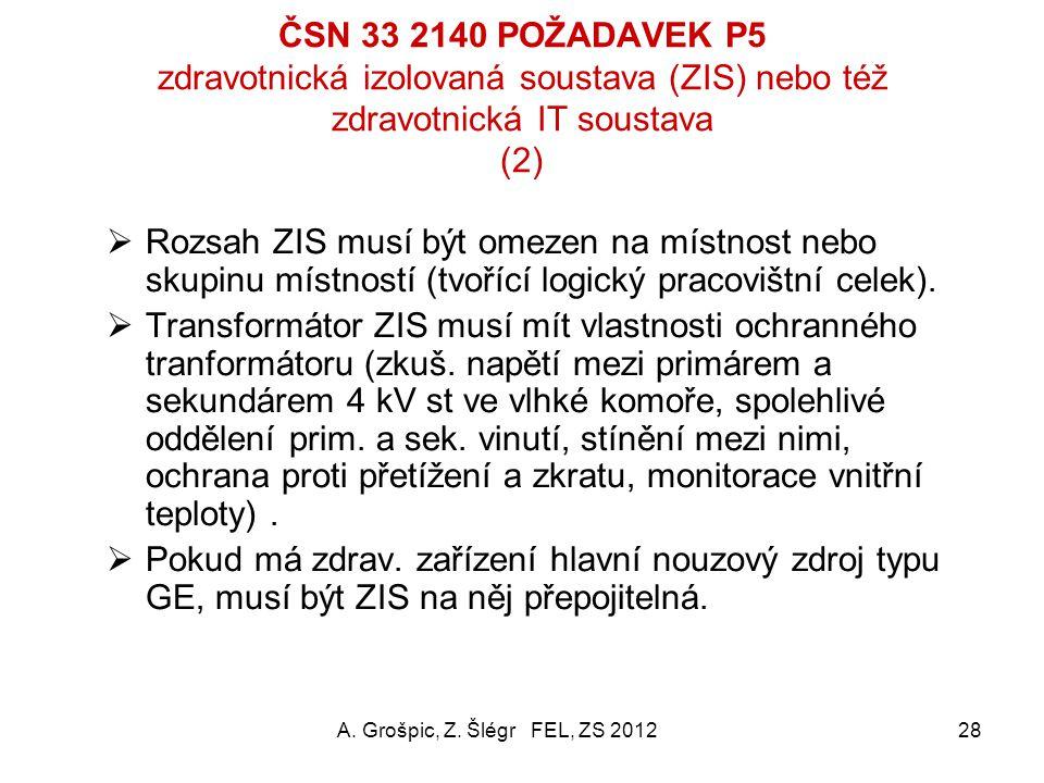 ČSN 33 2140 POŽADAVEK P5 zdravotnická izolovaná soustava (ZIS) nebo též zdravotnická IT soustava (2)