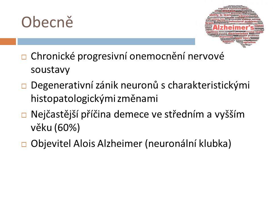 Obecně Chronické progresivní onemocnění nervové soustavy