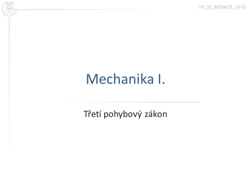 VY_32_INOVACE_10-15 Mechanika I. Třetí pohybový zákon